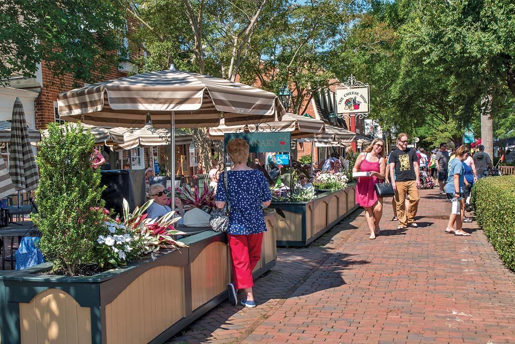 Merchants Square in Williamsburg, Virginia
