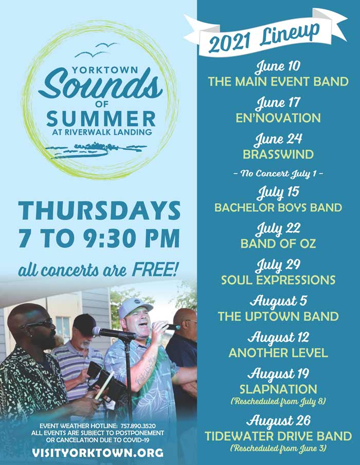 Yorktown Sounds of Summer at the Riverwalk 2021