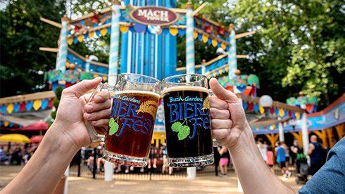 craft beers held in the air