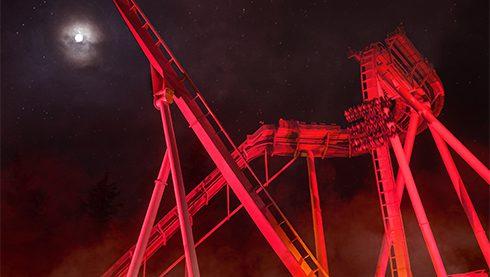 roller coster at Busch Gardens Williamsburg